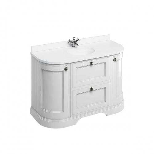 Meuble de salle de bain traditionnel simple vasque Olive FC4W_white