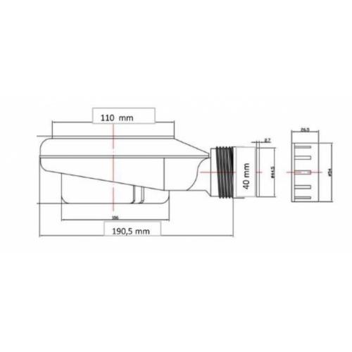 Receveur de douche souple SOFT Noir 80x80 cm Bonde SolidSft
