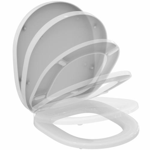 Pack WC à poser surélevé sortie horizontale Connect Freedom - Réservoir Cube IS_Abattant_E712701