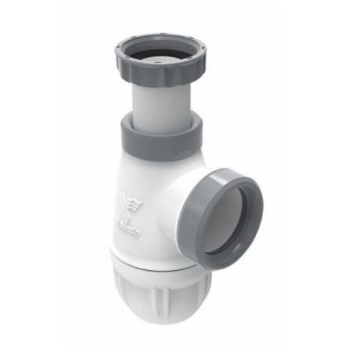 Siphon lavabo bi-matière-joint intégré CONNECTIC sortie Ø 32 - 6107*