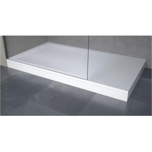 Receveur Extraplat NOVOSOLID Blanc Mat 80x80 cm Novosolid installation avec pieds à poser + kit de surelevation