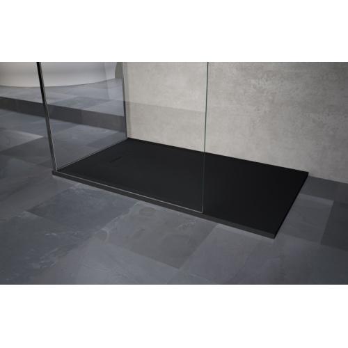 receveur extraplat novosolid noir mat 120x80 cm. Black Bedroom Furniture Sets. Home Design Ideas