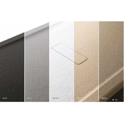 Receveur rectangulaire CUSTOM TOUCH Blanc Mat - Hauteur 12 cm - 100x80 cm Coloris CUSTOM TOUCH