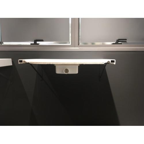 Receveur rectangulaire CUSTOM TOUCH Blanc Mat - Hauteur 3.5 cm - 100x80 cm Coupe Custom Touh