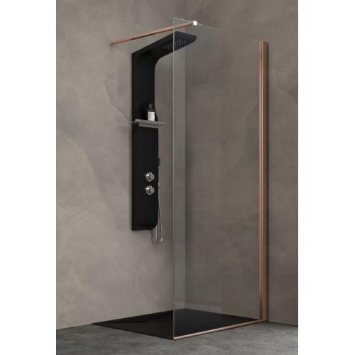 paroi fixe kinespace solo cuivre avec barre droite 70 cm. Black Bedroom Furniture Sets. Home Design Ideas