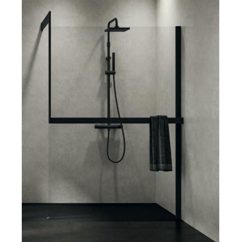 KIT-FRAME - Fixation au mur à Droite + Porte-serviette - Noir Mat
