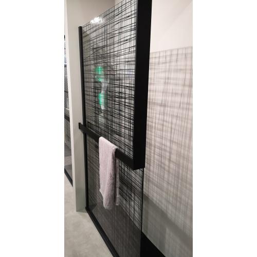 KIT-FRAME - Fixation au mur à Droite + Porte-serviette - Noir Mat IMG_20190313_110644