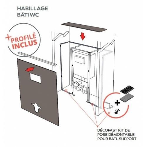 Habillage décoratif Bâti WC DECOFAST Classique Chic - Prestige DécoFast WC Avec kit démontage