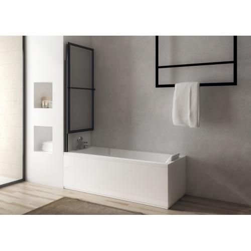 Pare-baignoire coulissant et relevable SECURE Noir mat - 2 volets Pare-bain SECURE