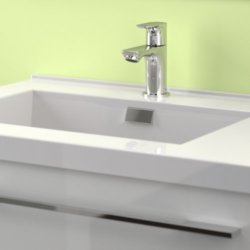 Meuble simple vasque 77 Saturn 2.0 Blanc Brillant SANS miroir Cascade 80 blanc-3
