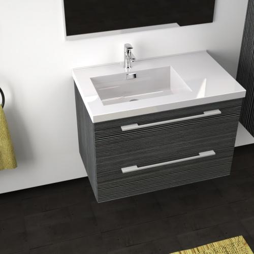 Meuble simple vasque 77 Jupiter 2.0 Gris Structuré SANS miroir City 80 gris structuré-3