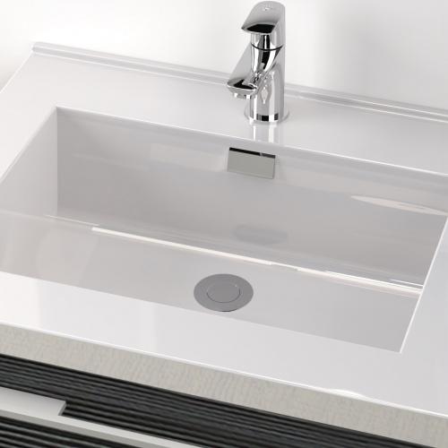 Meuble simple vasque 77 Jupiter 2.0 Gris Structuré SANS miroir City 80 gris structuré-2