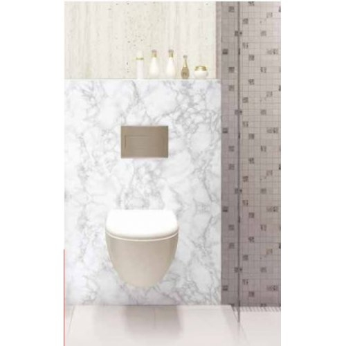 Habillage décoratif Bâti WC DECOFAST Classique Chic - Carrare