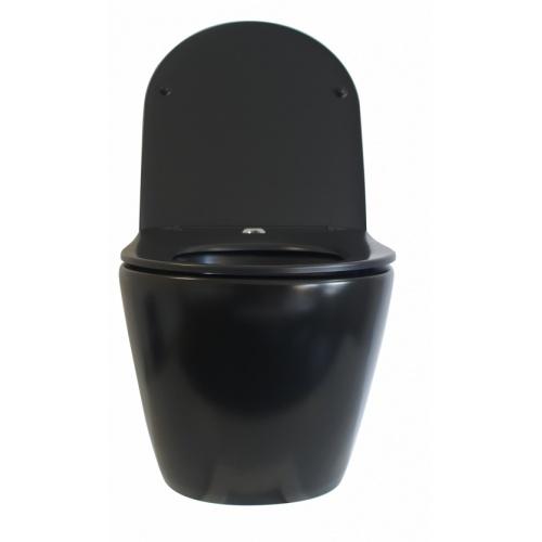 Pack Geberit UP320 + Cuvette sans bride KELOS Noir Mat + Plaque Sigma Noir WCNM-face-ouvert