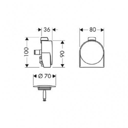 Vidage de baignoire à bec déverseur Exafill S 58113 cote 58117