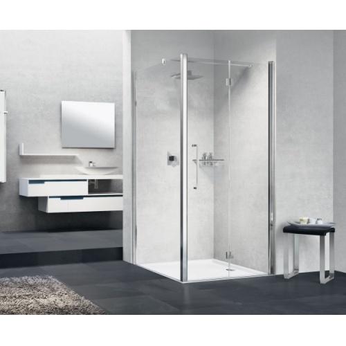 Porte pivotante et pliante YOUNG 1BS 60 cm - Transparent - Silver -Droite YOUNG 1BS + F- Droite