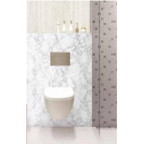 Panneau mural décoratif DECOFAST Carrare - Crédence 1200x400 mm Habillage WC Carrare