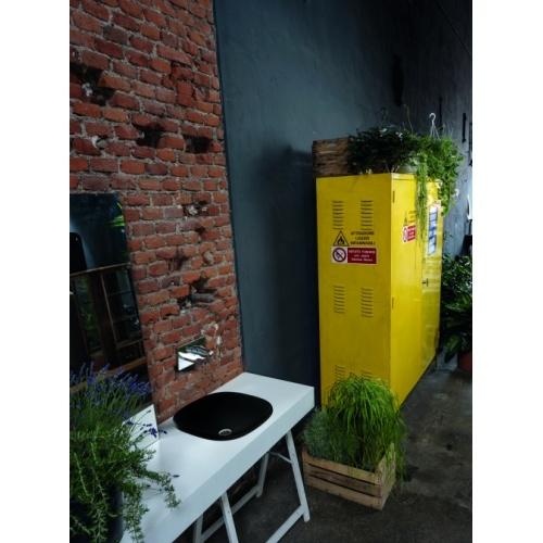 Vasque à poser ou à encastrer WILD Blackmat - Carré 45 WWL450913_AMB