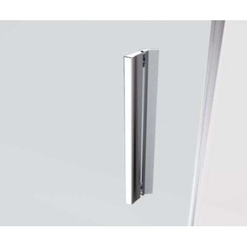 Paroi 2 portes battantes KUADRA 2.0 2B - Sérigraphie Rose - Profilé Noir - 70cm Poignée