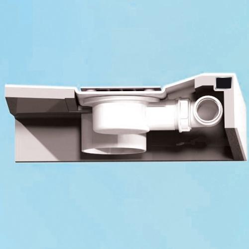 Receveur rectangle 70x120 en Biocryl Kinesurf Blanc LA Kinesurf 9_10,5 - Coupe bonde