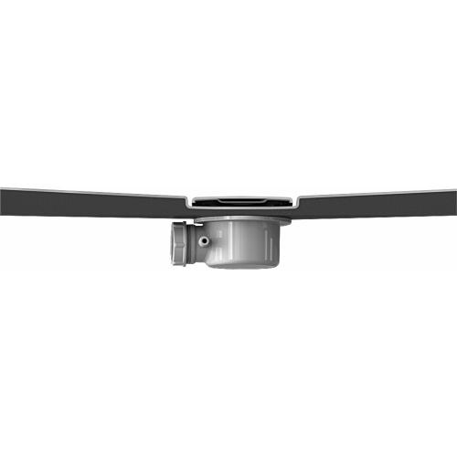 Receveur KINESURF+ Noir Mat - Bonde centrée sur la largeur - 70x120 cm Coupe bonde