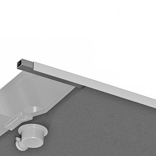 Receveur KINESURF+ Noir Mat - Bonde centrée sur la largeur - 70x120 cm Coupe materiaux