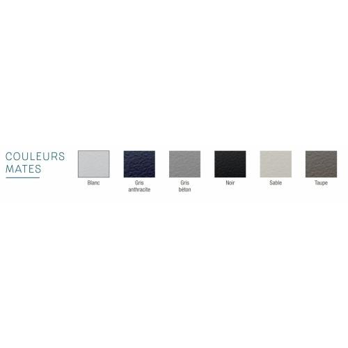 Receveur KINESURF+ Noir Mat - Bonde centrée sur la largeur - 70x120 cm Coloris KINESURF+