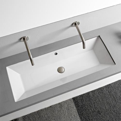 Vasque à encastrer par dessous TEOREMA 2.0 100 cm - 5137 Scarabeo-5137