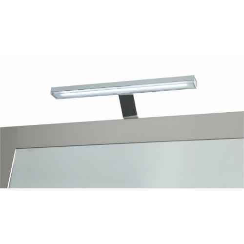 Meuble double vasque 4 tiroirs 120 cm RIVAGE Cristal Blanc Eclairage LED