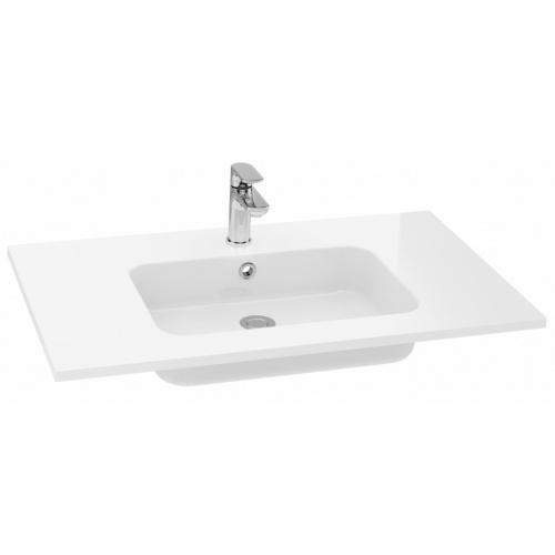 Meuble double-vasque VOGUE/LOFT 140 Boréale Blanc Brillant Plan SAVANE