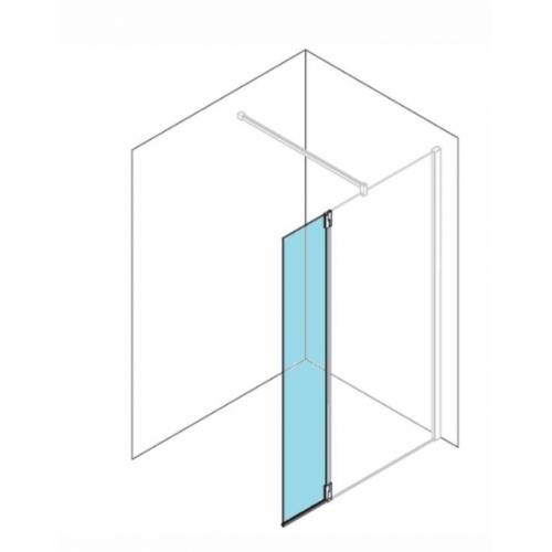Volet pivotant KUADRA H Transparent - Profilé Chromé