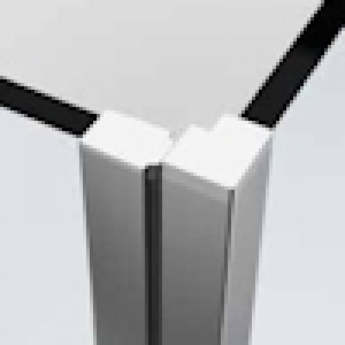 Porte de douche pivotante YOUNG PLUS - Profilé Silver - 80 cm PROFMAGNETE