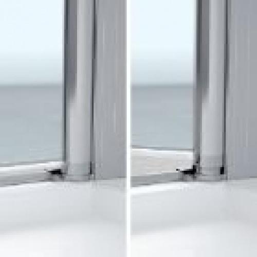 Porte de douche pivotante YOUNG PLUS - Profilé Silver - 80 cm Charnières relevables
