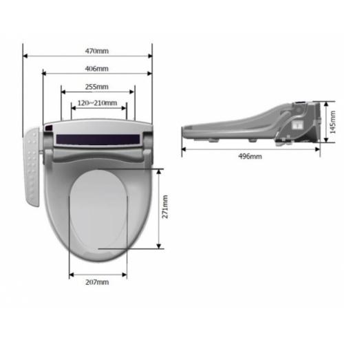 Abattant lavant multifonctions avec télécommande intégrée - B43 B43 Schéma