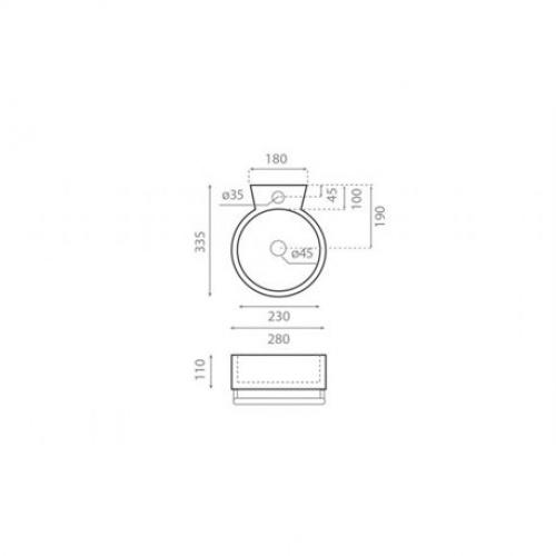 Lave-mains SHERRY avec porte serviette sherry-4905-280x335-mm-sans-trop-plein (1)