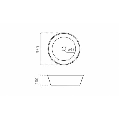 Set de toilette KIOTO en Zinc Blanc KIOTO schéma