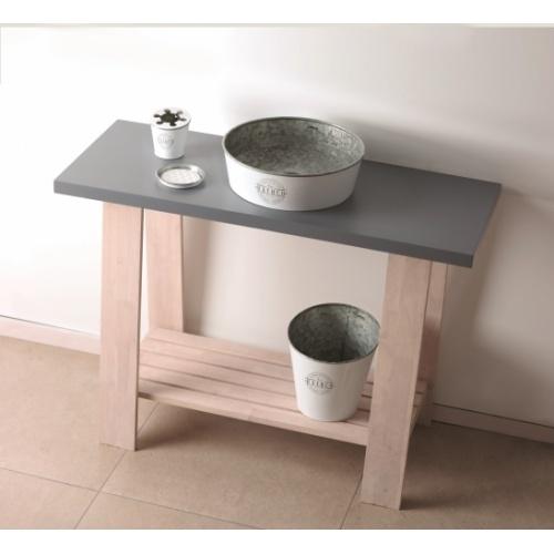 Set de toilette KIOTO en Zinc Blanc KIOTO Blanc Ambiance