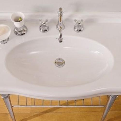 Vasque sur Colonne CASTELLANA Blanc - 90 cm CASTELLANA Dessus