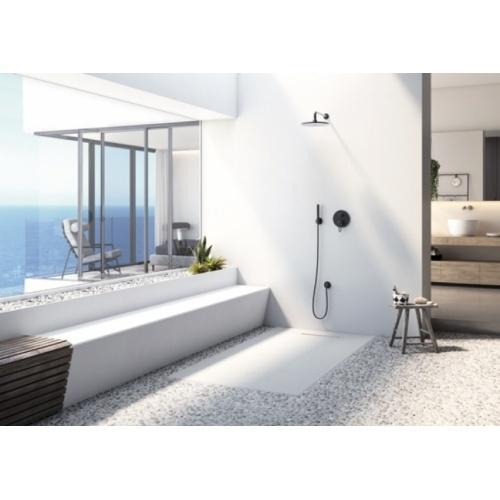 Receveur de douche souple SolidSoft LINEAR DRAIN Blanc 90x120 cm Linear Drain Blanc Ambiance