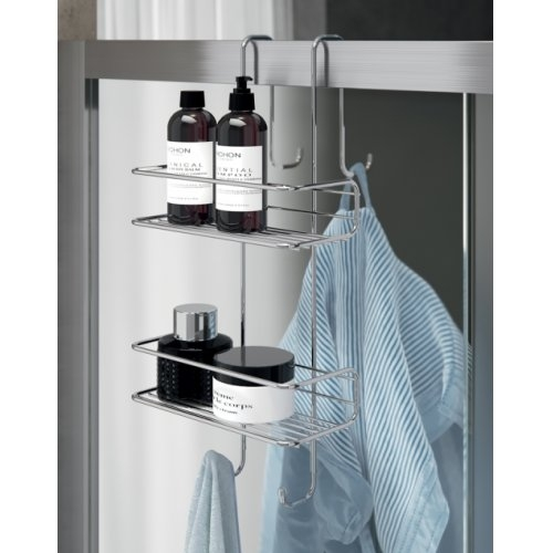 Porte-objets filaire TITO pour paroi de douche - Chromé Etagère Ambiance