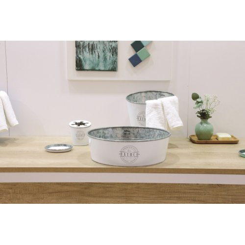 Set de toilette KIOTO en Zinc Blanc 8328_Kioto_Blanco