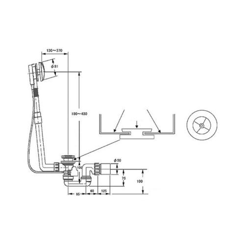 Vidage avec trop-plein intégré prolongé Villeroy-et-Boch-U90950461-3
