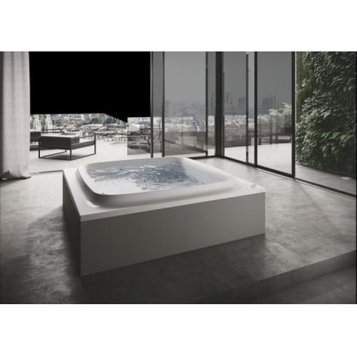 Baignoire SKYLINE 190x190 cm seule - Blanc brillant - Programme BASE SKYLINE