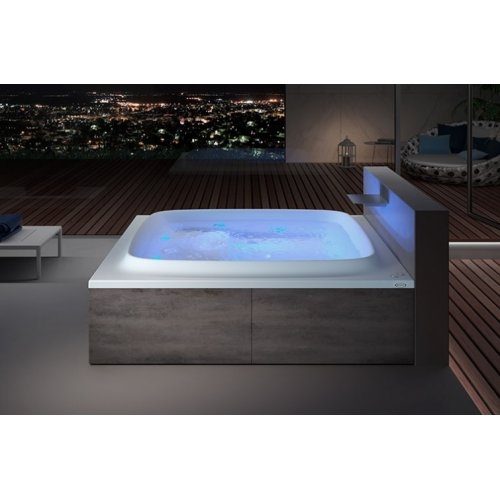 Baignoire SKYLINE 190x190 cm seule - Blanc brillant - Programme BASE skyline-190-gallery-night