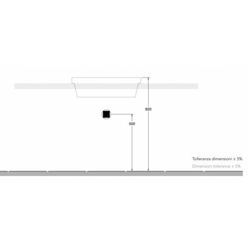 Vasque à encastrer TEOREMA 2.0 45 cm - 5130 5131 Installation