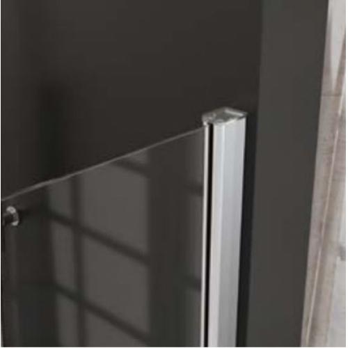 Paroi de douche fixe FADO Transparent - Argent - 80 cm FADO 1