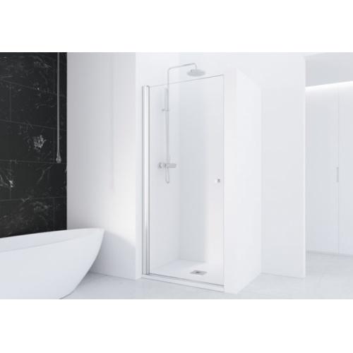 Porte battante en niche HADA - Transparent - Argent HB - 100cm