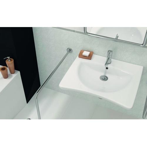 Lavabo en céramique PMR* lavabo PMR phot ambiance