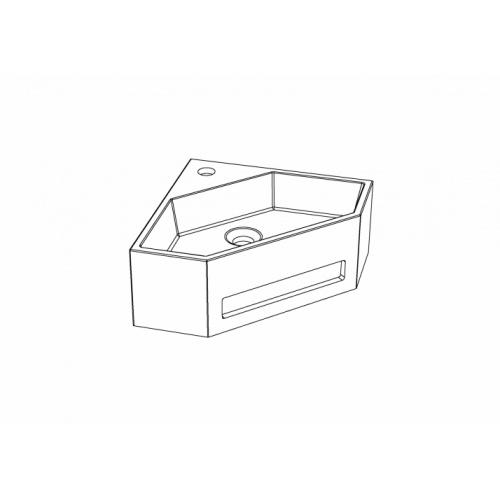 Lave-mains d'angle ANGO avec porte serviette intégré 825540