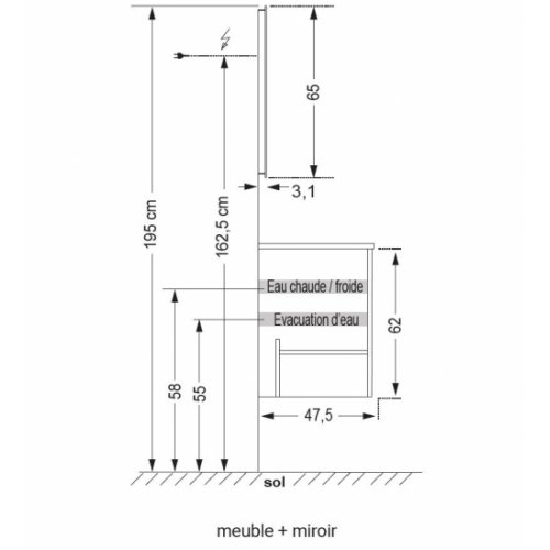 Meuble double vasque NOLITA Chêne Arlington SANICA Notice Montage